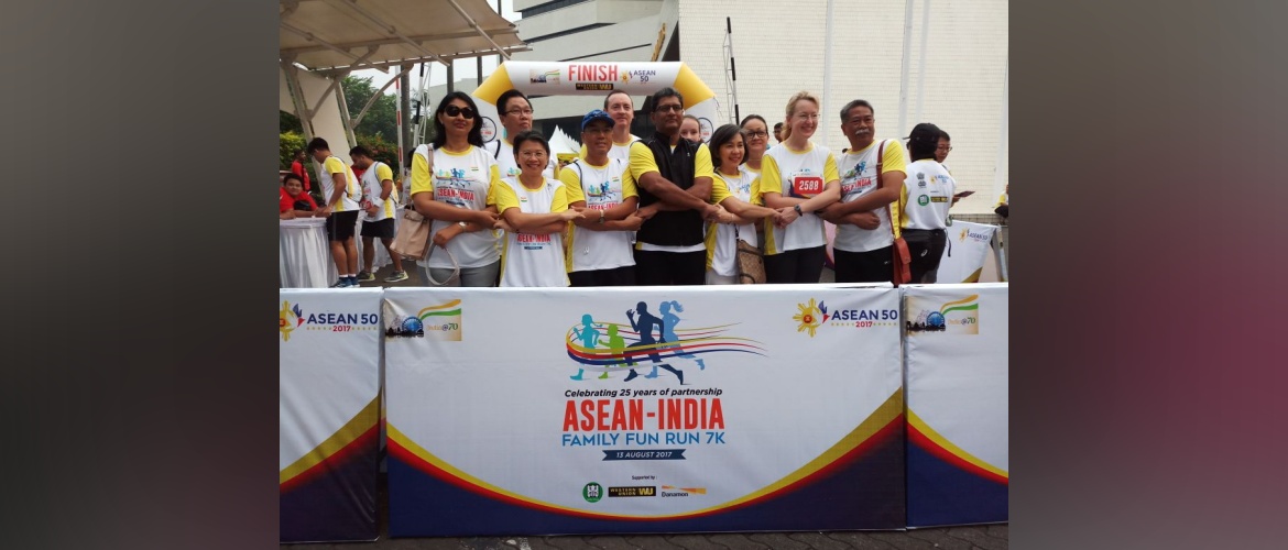 ASEAN-India Family Fun Run, 13th August 2017, Jakarta